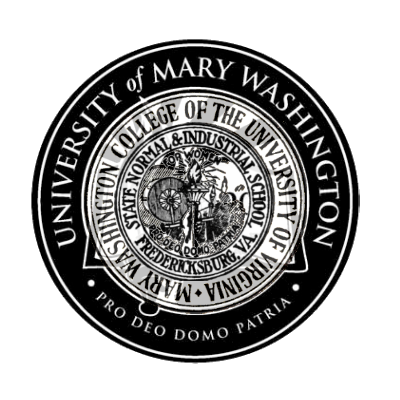 A mashup of all of the University of Mary Washington's seals throughout history