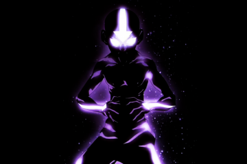 Illustration of Aang in the Avatar State
