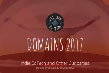 Screenshot from Domains 2017 website